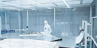 Cleanroom tent in packaging technology