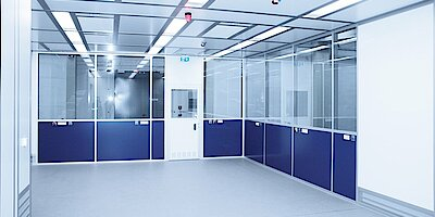 Cleanroom for pharmaceutical packaging, GMP C