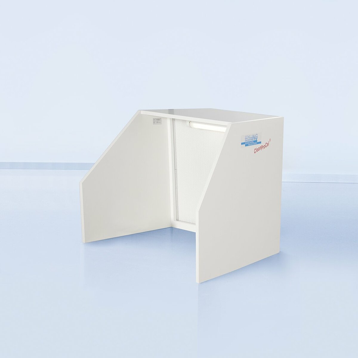 Horizontal flow tabletop unit made of melamine