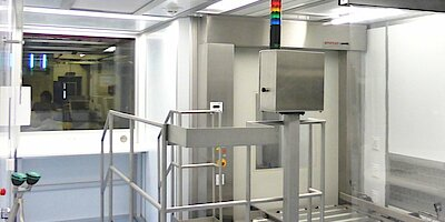 Cleanroom for sampling pharmaceutical products, GMP D