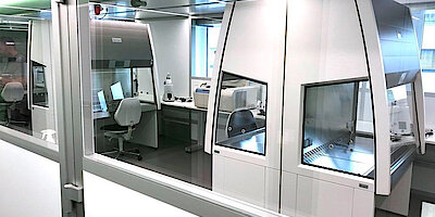 Cleanroom for cleanroom laboratory immuno-oncology, GMP A in B