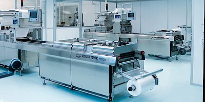 Cleanroom for blister packing of surgical material, ISO 8