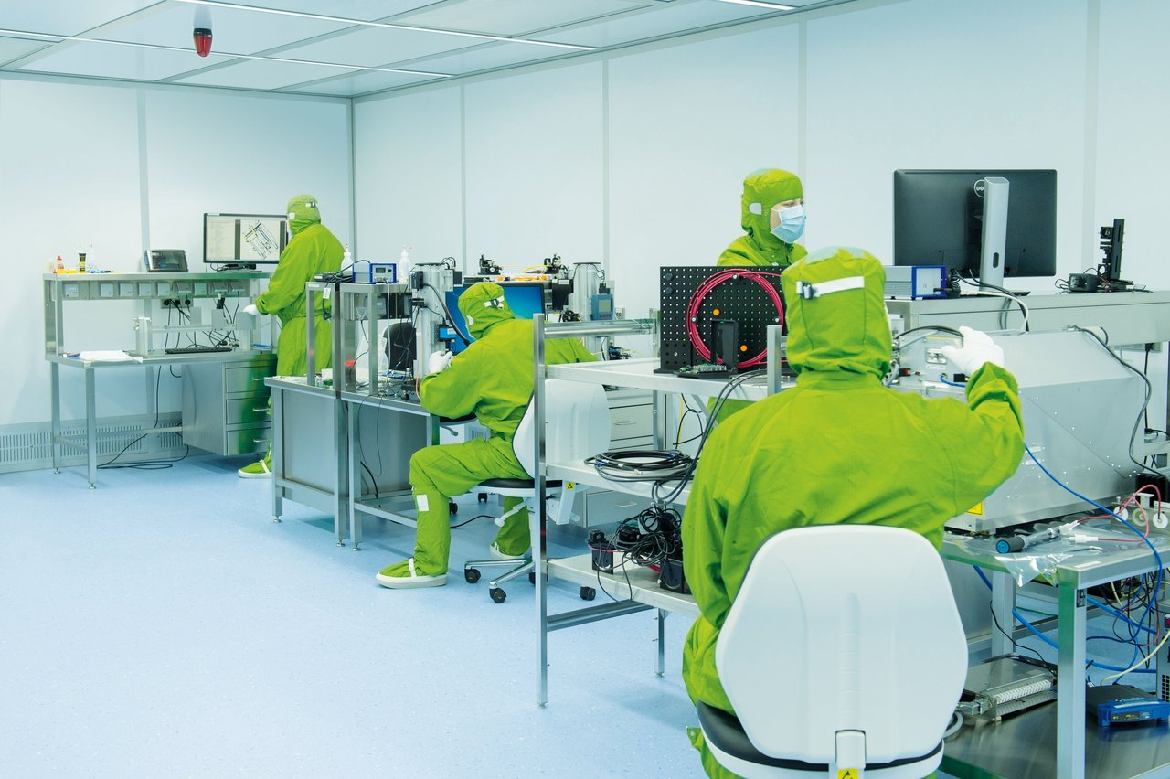 Cleanroom for semiconductor production, ISO 6