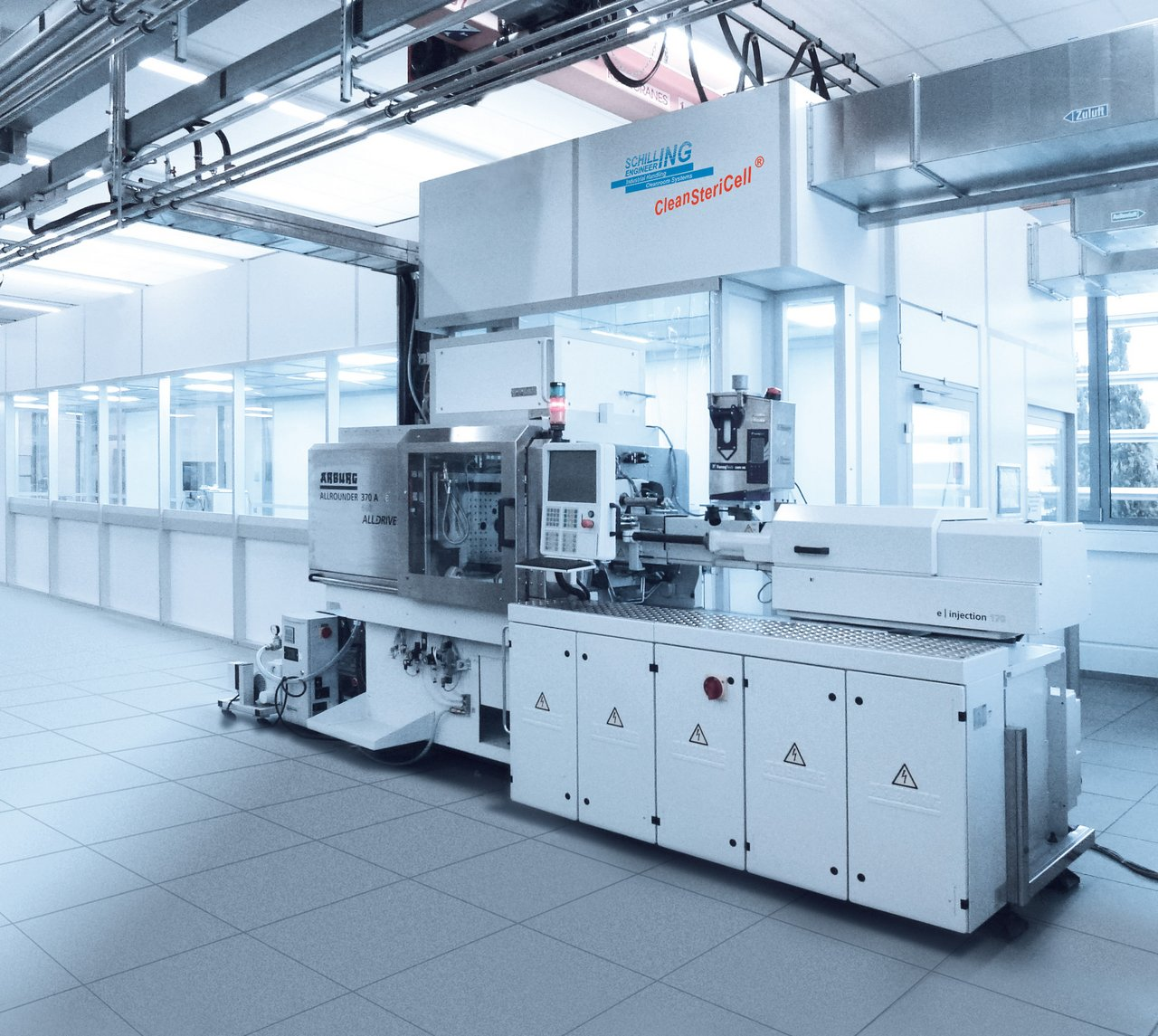 Cleanroom for injection moulding of micro-implants, GMP C