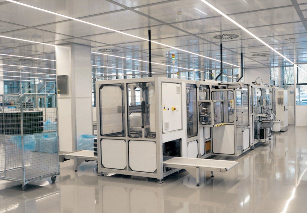 Cleanroom for manufacturing pipette tips, ISO 8