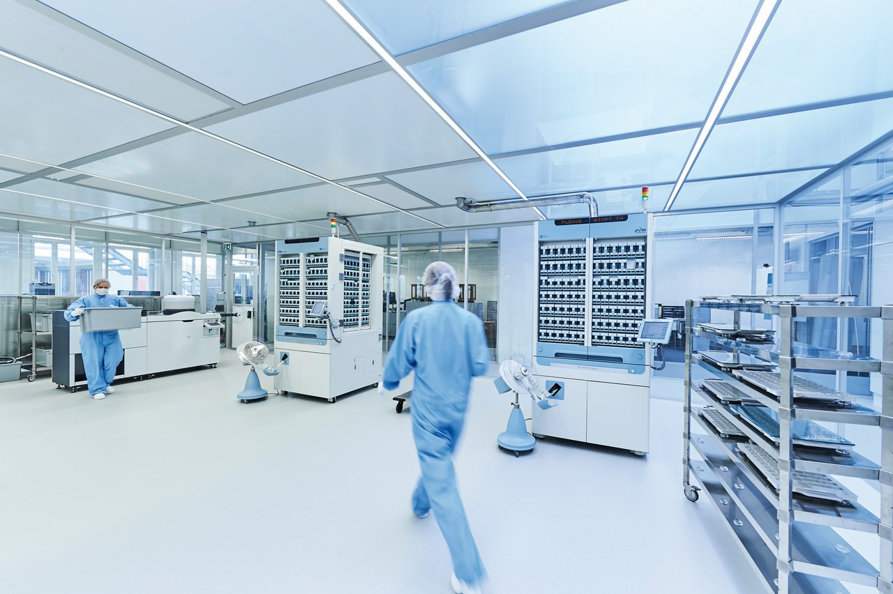 Cleanroom for blister centre Switzerland, GMP D
