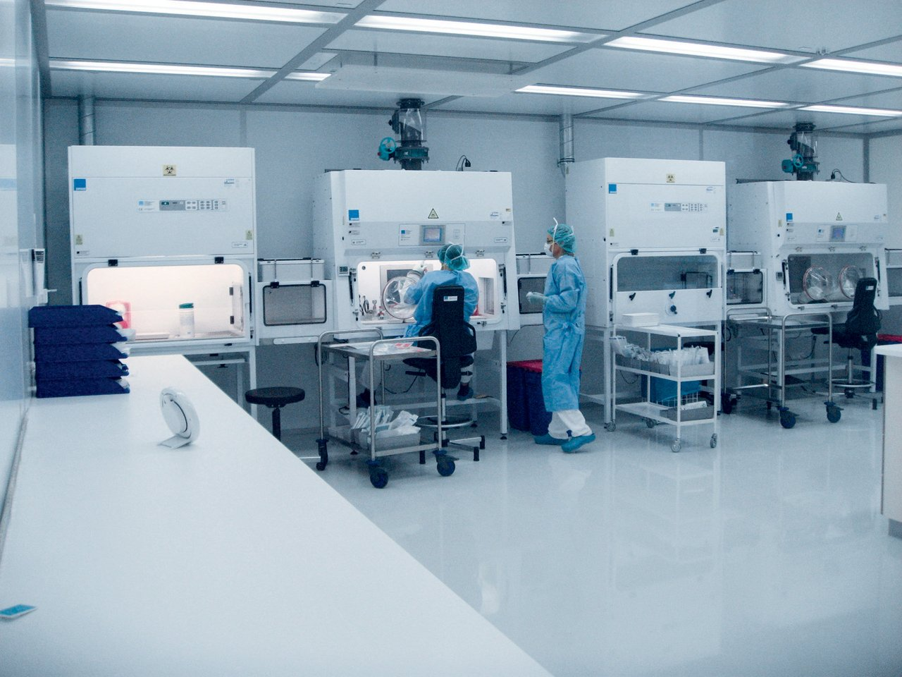 Cleanroom for cytostatics laboratory, clinic, GMP A in D