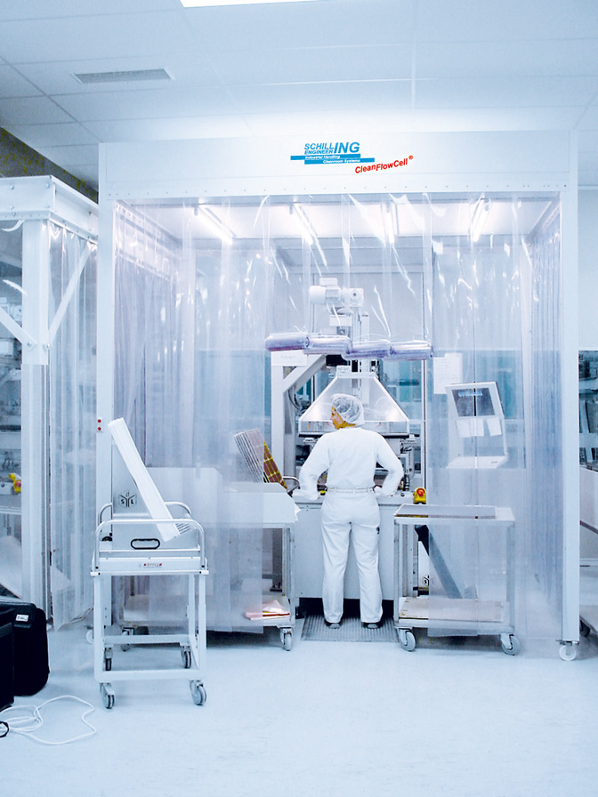 Cleanroom tent in sensor and semiconductor manufacturing