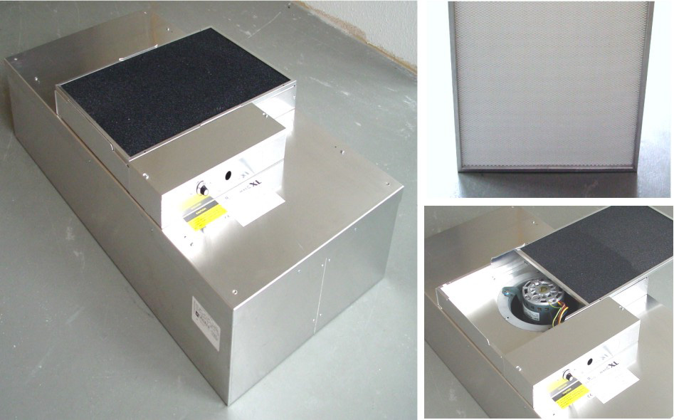 Laminar flow boxes, cleanroom class ISO 4, 5