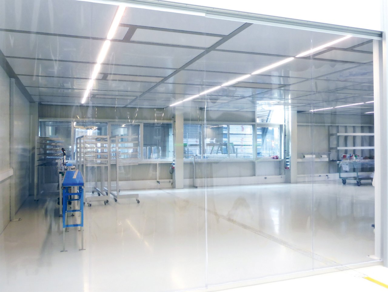 Cleanroom PVC film curtain, cleanroom class ISO 7