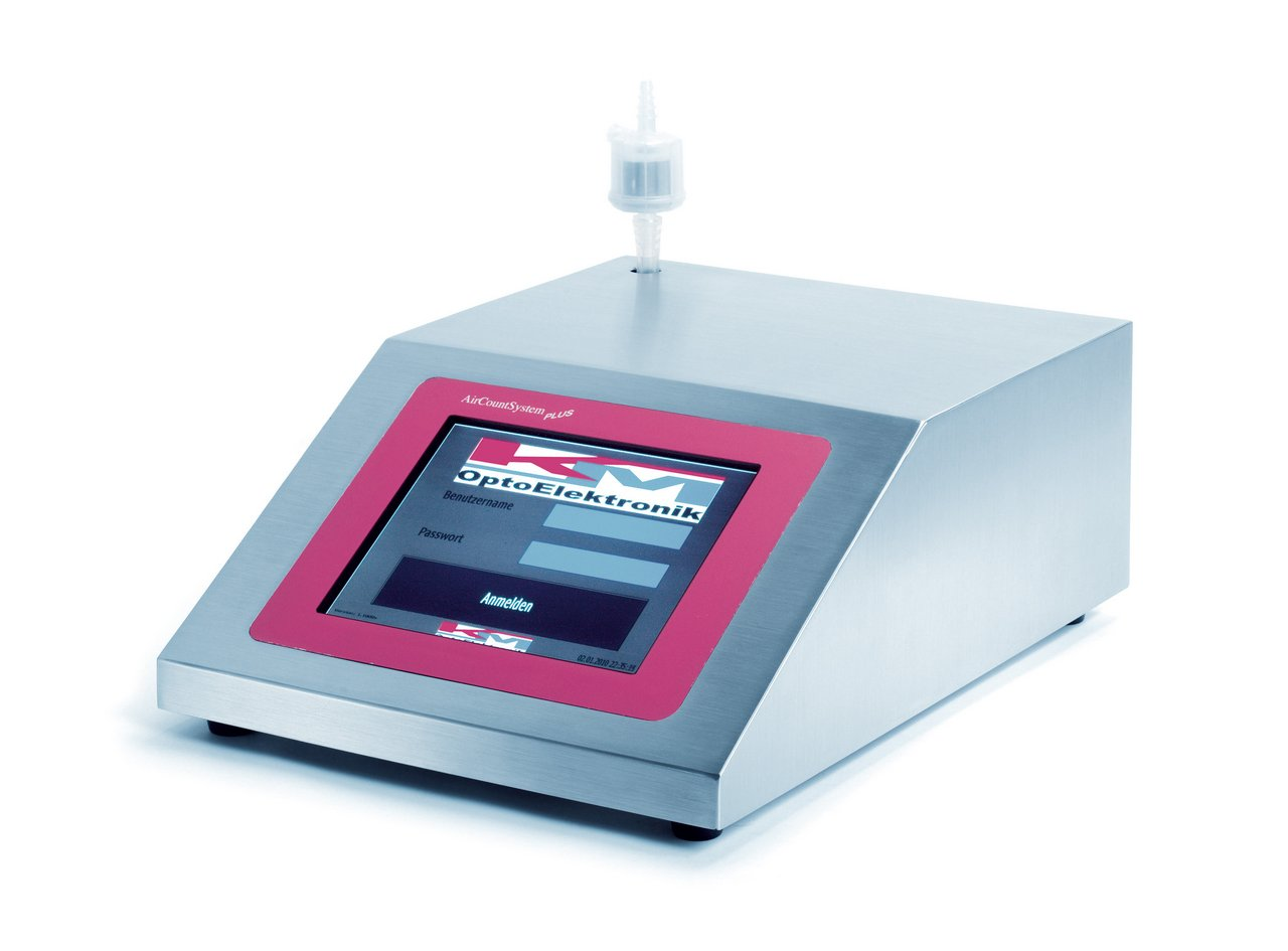 Cleanroom high-end laser particle counter ACS Plus 128, GMP compliant