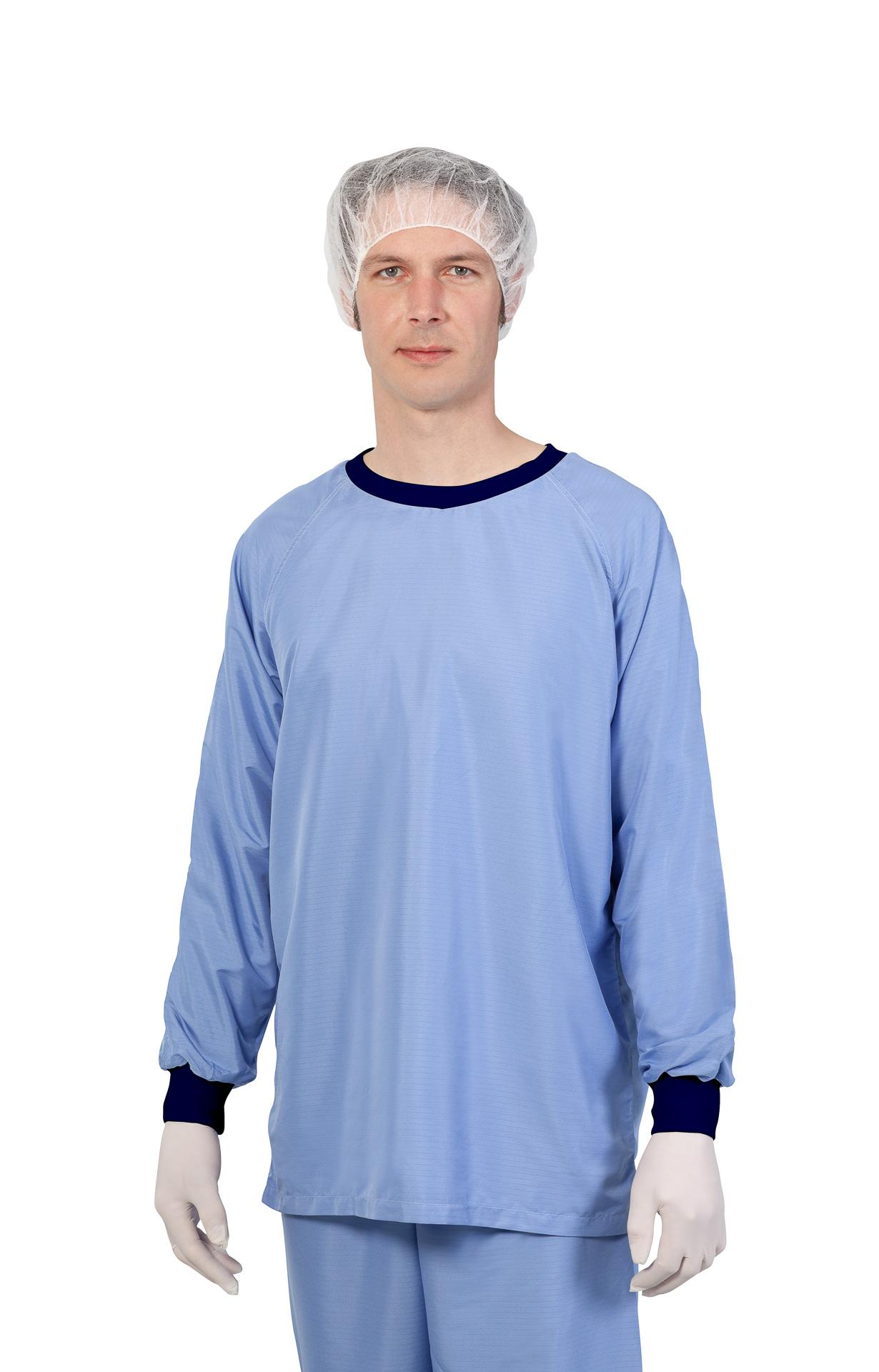 Cleanroom reusable underwear upper part, for cleanroom class ISO 7-8, GMP B-C