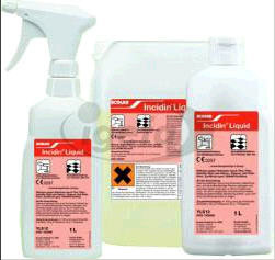Cleanroom disinfection spray, especially for cleanroom curtains, certified according to DGHM guidelines